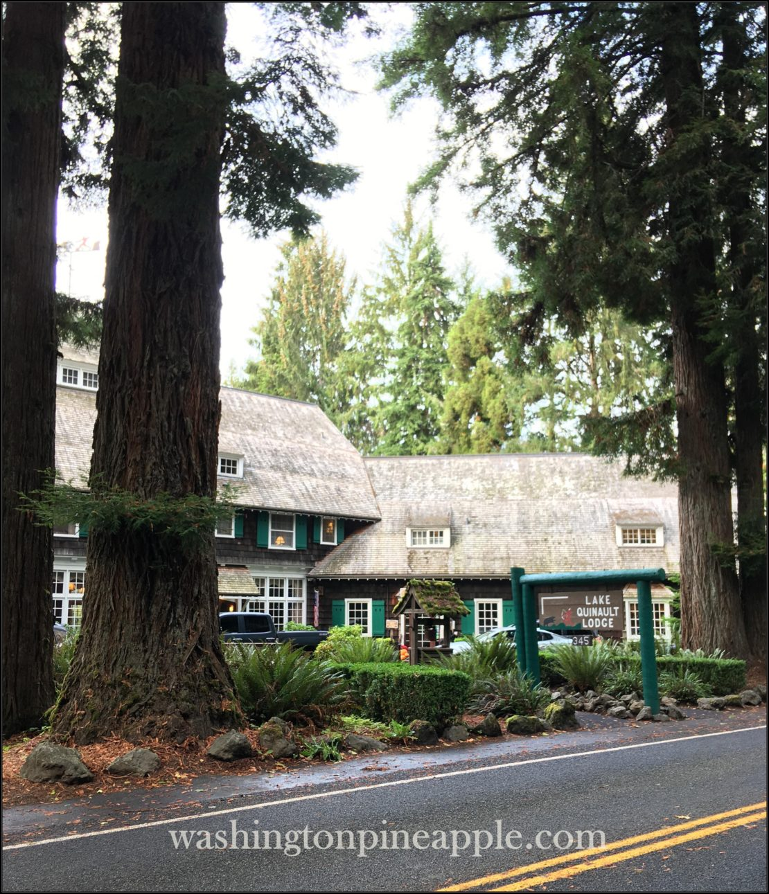 Lake Quinault Lodge in the Fall~ subject to copyright